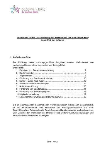 Richtlinien - beim Sozialwerk der Inneren Verwaltung des Bundes eV