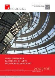 studienführer bachelor of arts politikwissenschaft - Fachbereich ...