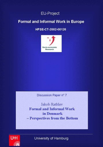 Formal and Informal Work in Denmark – Perspectives from the Bottom