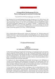 Fachspezifische Bestimmungen für den - Universität Hamburg