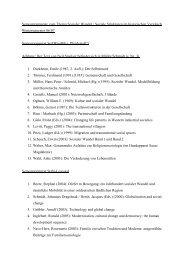 Semesterapparate zum Thema Sozialer Wandel / Soziale Strukturen ...