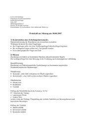 Protokoll zur Sitzung am 30.04.2007 - Universität Hamburg