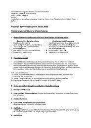 SoSe_Quali Protokoll IVa - Fachbereich Sozialwissenschaften ...