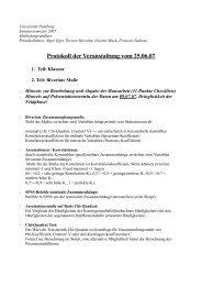 Protokoll der Veranstaltung vom 25.06.07 - Universität Hamburg