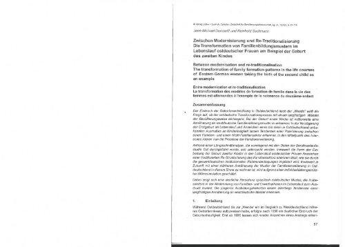 Zwischen Modernisierung und Re-Traditionalisierung - Institut für ...