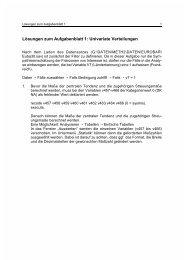 Lösungen zum Aufgabenblatt 1: Univariate Verteilungen