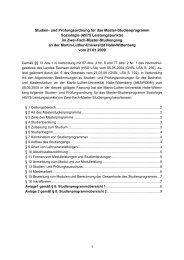 Studien - Institut für Soziologie - Martin-Luther-Universität Halle ...