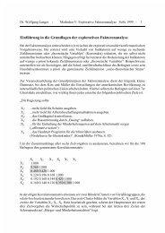 Einführung in die Grundlagen der explorativen Faktorenanalyse