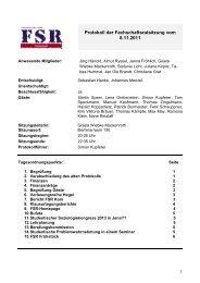 FSR Soz Protokoll_08.11.2011 - Institut für Soziologie