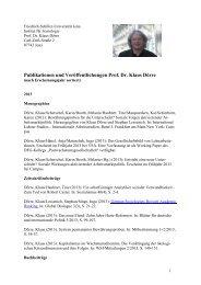 Publikationen und Veröffentlichungen - Institut für Soziologie ...