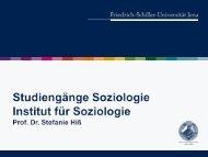 der Vortrag von Prof. Dr. Hiß zum Download - Institut für Soziologie