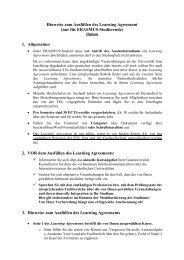 Hinweise zum Ausfüllen des Learning Agreement - Friedrich ...
