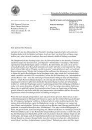 Schriftliche Stellungnahme - Institut für Soziologie - Friedrich ...