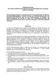 Praktikumsordnung - Institut für Soziologie - Friedrich-Schiller ...