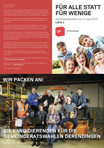 Wahlprospekt - SP Derendingen