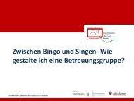 Ulrike Kruse: Zwischen Bingo und Singen - Wie gestalte