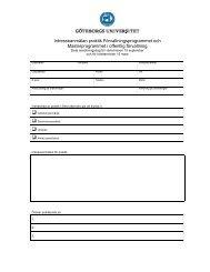 Intresseanmälan praktik - Förvaltningshögskolan