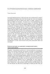 4.1.9 INNOVASJONSPROSESSER I NORSKE KOMMUNER