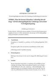 Läs mer här - Förvaltningshögskolan - Göteborgs universitet