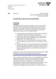 Utvärdering av det kommunala partistödet Inledning