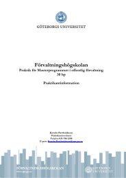 Tips för ansökningsbrev - Förvaltningshögskolan