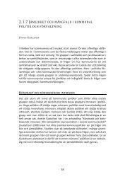 Jämlikhet och mångfald i kommunal politik och förvaltning