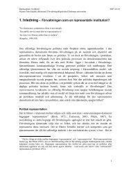 Förvaltningen som en representativ institution
