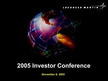 2005 Investor Conference - Space-Library