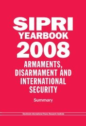 SIPRI Yearbook 2008, Summary