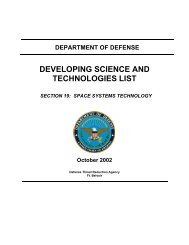 DEVELOPING SCIENCE AND TECHNOLOGIES LIST - Space-Library