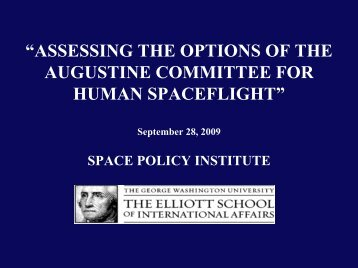 """""""ASSESSING THE OPTIONS OF THE AUGUSTINE ... - Space-Library"""