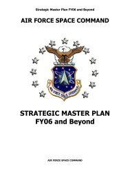 STRATEGIC MASTER PLAN FY06 and Beyond - Western States ...
