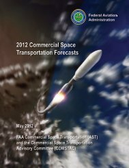 2012 Commercial Space Transportation Forecasts - FAA