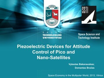 Piezoelectric Devices for Attitude Control of Pico and Nano-Satellites