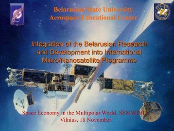 Integration of the Belarusian Research and Development into ...