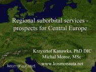 Regional suborbital services - prospects for Central Europe
