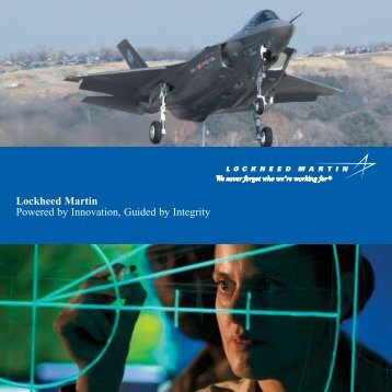 Lockheed Martin Powered by Innovation, Guided by ... - Space-Library
