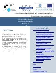 Kosmoso naujienų apžvalga - Žinių ekonomikos forumas