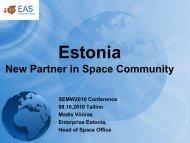 Estonia - New partner in space community.