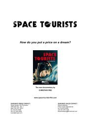 Press Notes - Space Tourists