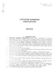 Lietuvos kosmoso asociacijos įstatai