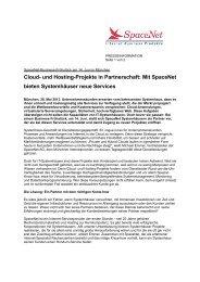 Cloud- und Hosting-Projekte in Partnerschaft: Mit ... - SpaceNet AG