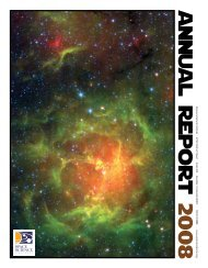 a n n u a l R e p o r t 2 0 0 8 - Space Science Institute