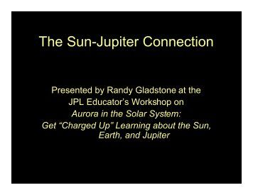 The Sun-Jupiter Connection