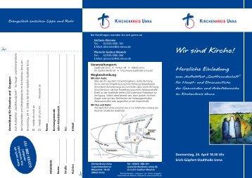 Herzliche Einladung zum Auftaktfest ... - Kirche im Aufbruch