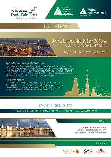 INVITATION - ja-ye europe