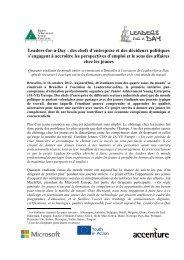 Leaders-for-a-Day : des chefs d'entreprise et des ... - ja-ye europe