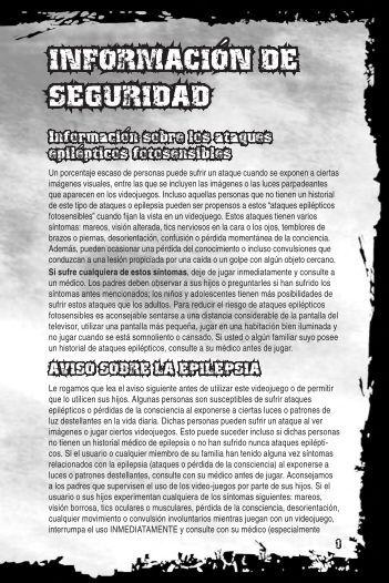 INFORMACION DE SEGURIDAD ´