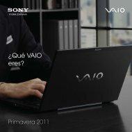 Catálogo Sony VAIO primavera 2011 - Arqui.com