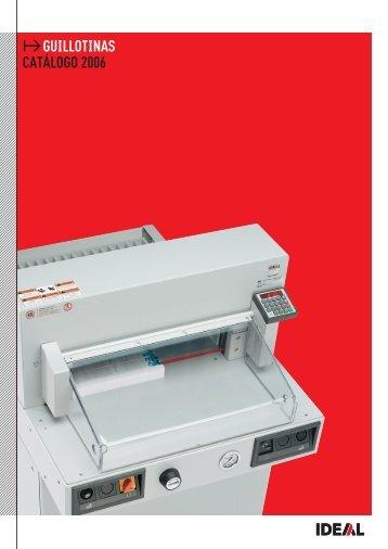 Catálogo guillotinas Ideal - Arqui.com